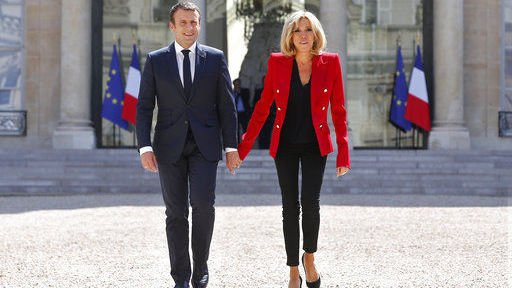 French first lady says husband's only fault is being younger