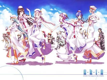 天野こずえ先生の絵は凄く綺麗で好き。ARIA、あまんちゅの表紙絵とか青を基調とした絵が本当綺麗…