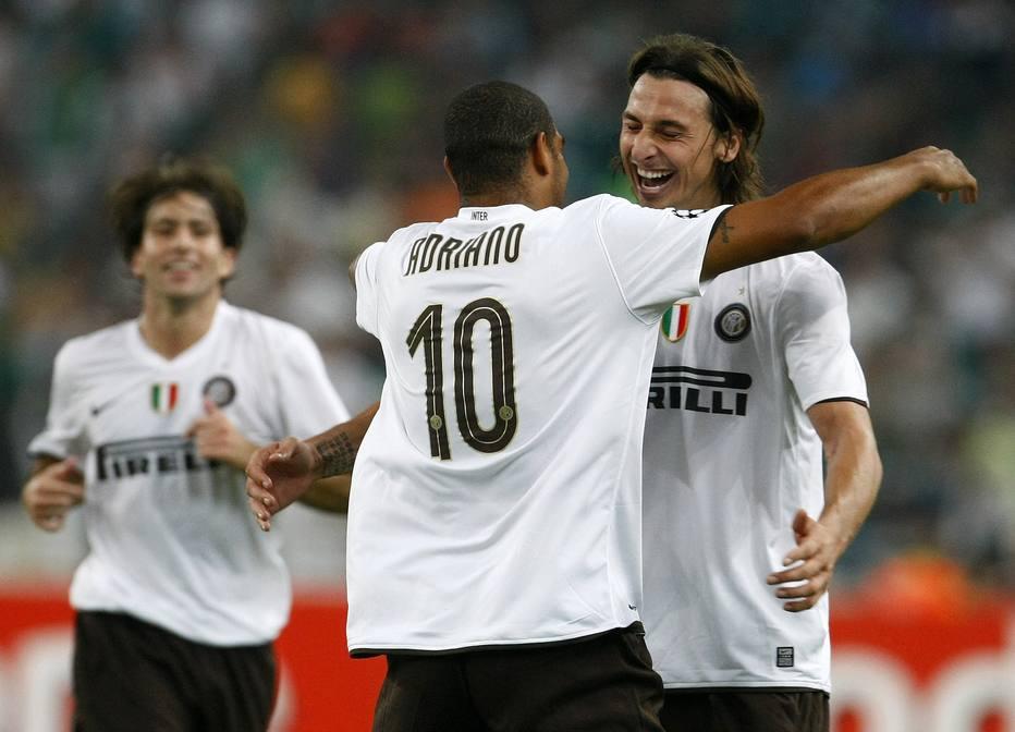 Adriano agradece Ibra por considerá-lo o melhor parceiro: 'Obrigado, irmão!' - Futebol