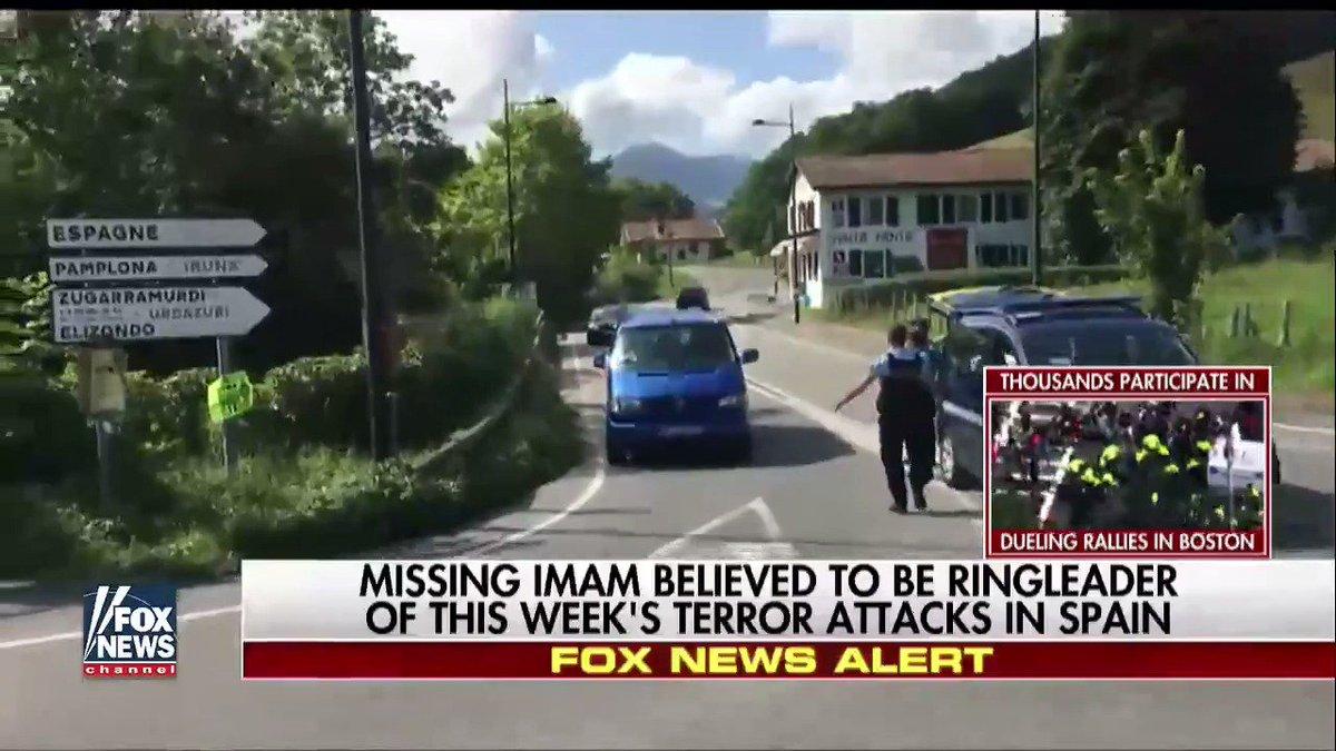Missing imam believed to be ringleader of this week's terror attacks in Spain.
