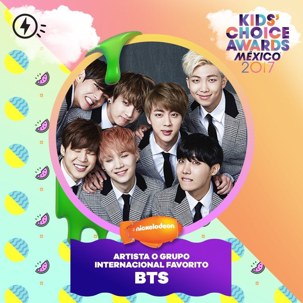[INFO] BTS ganhou o 'International Artist' da Nickelodeon Kids Choice Awards no Mexico 2017 https://t.co/XNaCWAWQfG