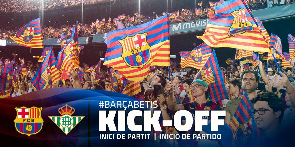 RT @FCBarcelona: ????  @LaLigaEN is under way at Camp Nou! ???? Som-hi Barça! ???????? #BarçaBetis https://t.co/RvCASH88qg