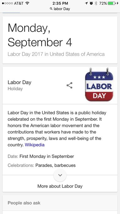 """1 pic. For those of you who have no clue why Monday is a """"holiday"""" #HappyLaborDay https://t.co/nFTkv"""