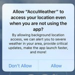 AccuWeather iOS App Accused of Selling User's Location Information