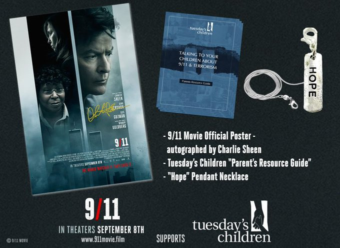 Giveaway – Charlie Sheen 9/11 Movie Prize Package – Ends 9/18/17