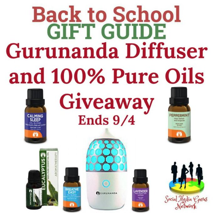 Gurunanda Diffuser and 100% Pure Oils Giveaway