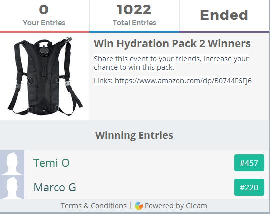 Hydration Pack Giveaway
