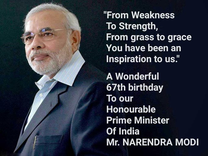 WISHING HONOURABLE PRIME MINISTER MR.NARENDRA MODI  A VERY HAPPY BIRTHDAY ADVANCE.