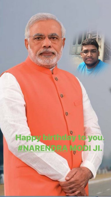 Happy birthday to you. NARENDRA MODI JI.