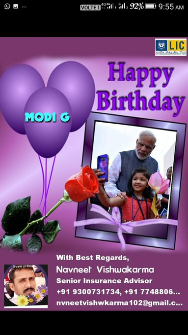 Wish you happy birthday to you Prim Minister Narendra Modi g....