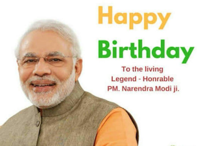 Wish you many many return of the day Happy Birthday pm. Sri. Narendra. Modi ji.