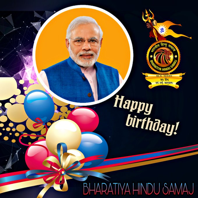 Happy Birthday To  Narendra Modi Ji..