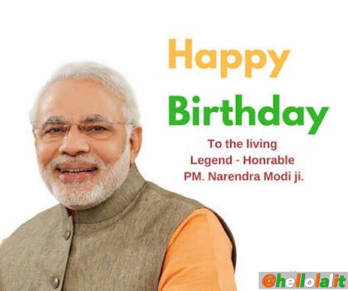 Wishing our beloved Prime Minister, Mr. Narendra Modi ji  a very Happy Birthday.