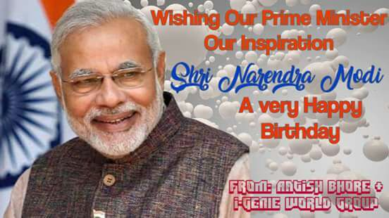 Very Happy Birthday to Dear Prime Minister,Our Inspiration....Shri Narendra Modi.