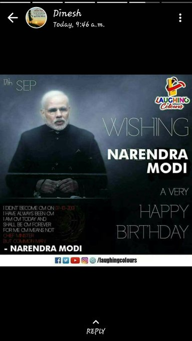 Wishing P.M. NARENDRA MODI a very Happy Birthday......