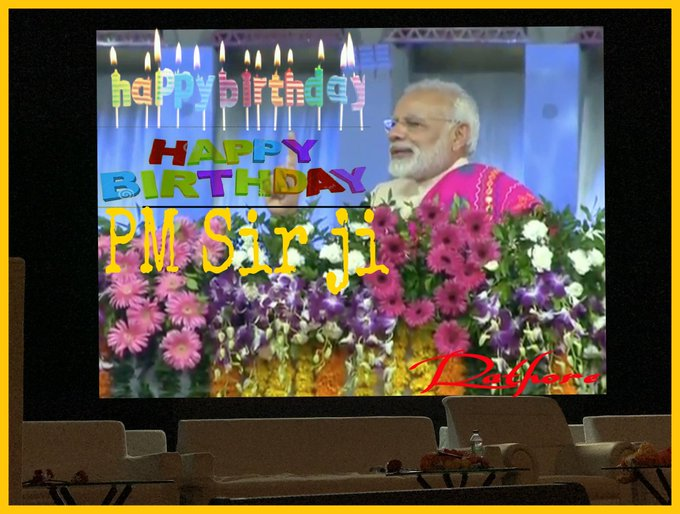 @ narendra modi .Hon.PM Sir ji Happy Birthday May Wish u God your healthy long life Sir ji