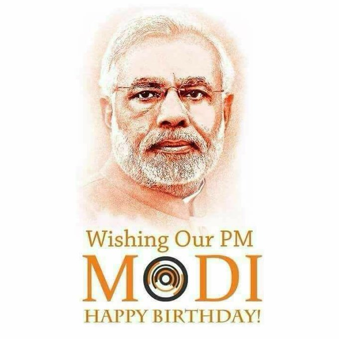 Happy birthday to our prime minister Shri NARENDRA MODI JI