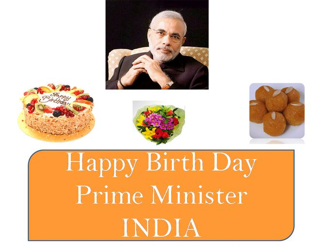 Happy Birthday to Hon\able PM of India Narendra Modi