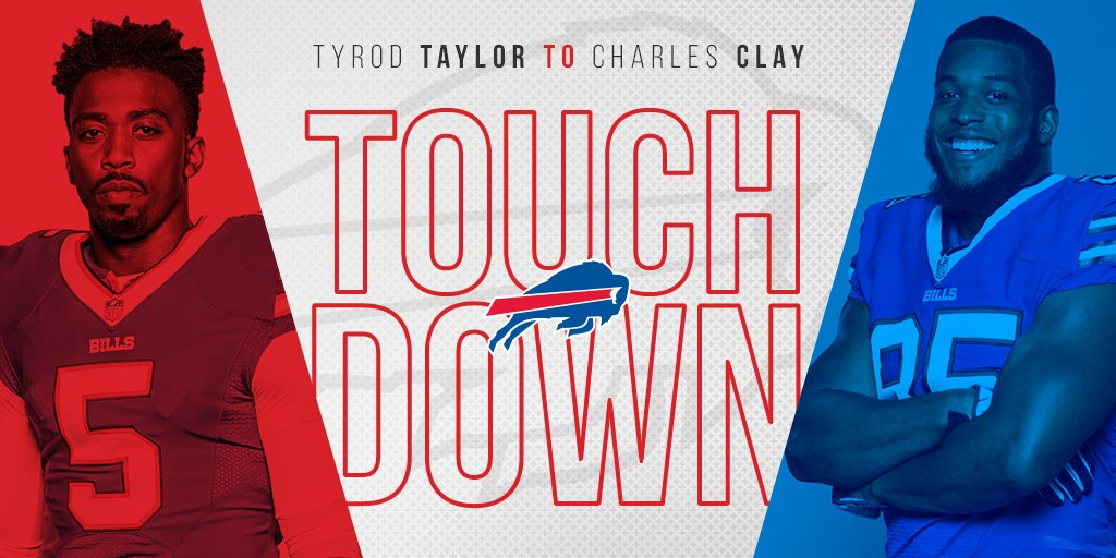 FIRST TOUCHDOWN OF THE SEASON!  #NYJvsBUF #GoBills https://t.co/XSPBvL2uNe