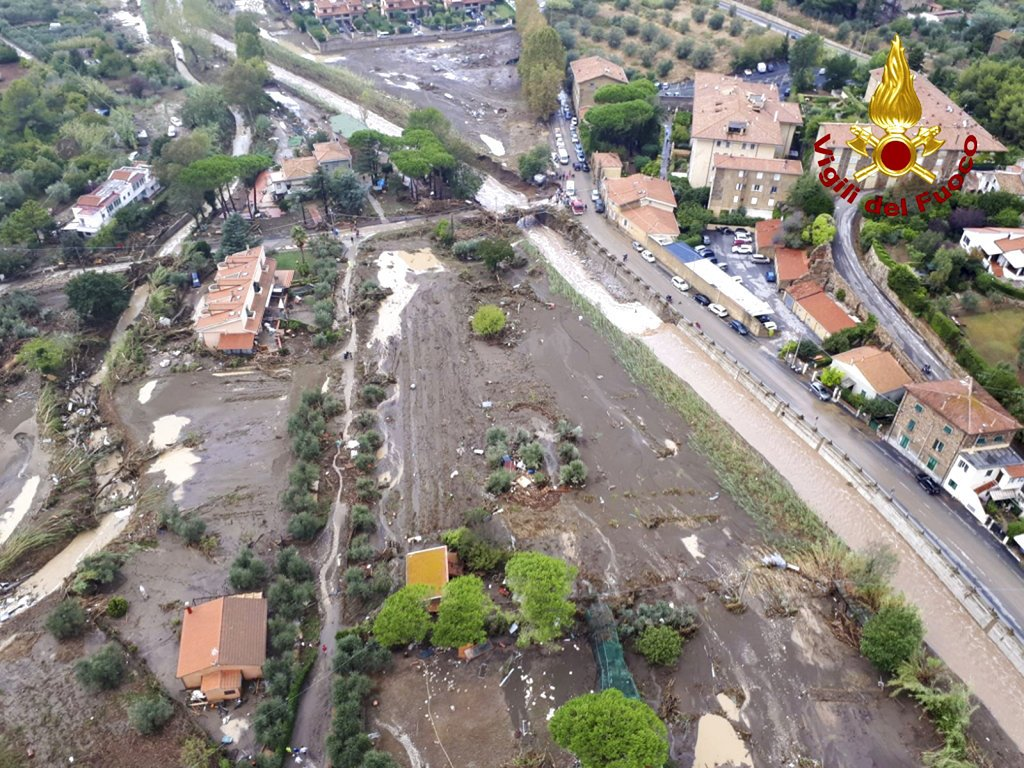 Heavy rains, floods hit Italy; at least 6 dead in Tuscany
