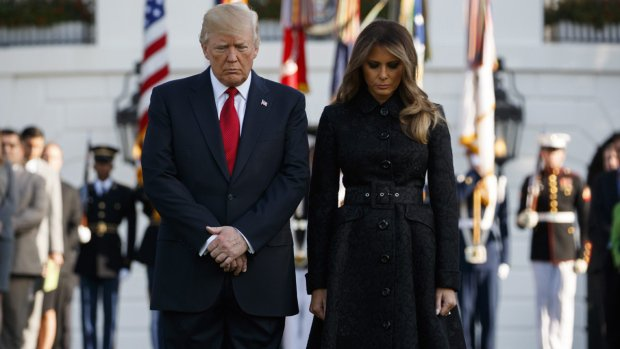 Trump and first lady commemorate Sept. 11 anniversary