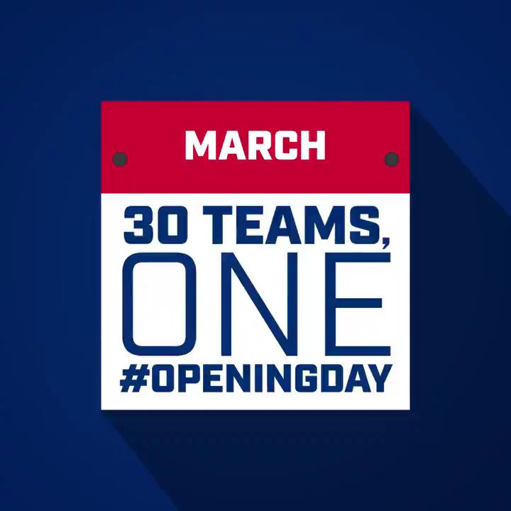 30 teams. One #OpeningDay.   The 2018 schedule is here! https://t.co/PVYAV1L141 https://t.co/WGzprVwjLy