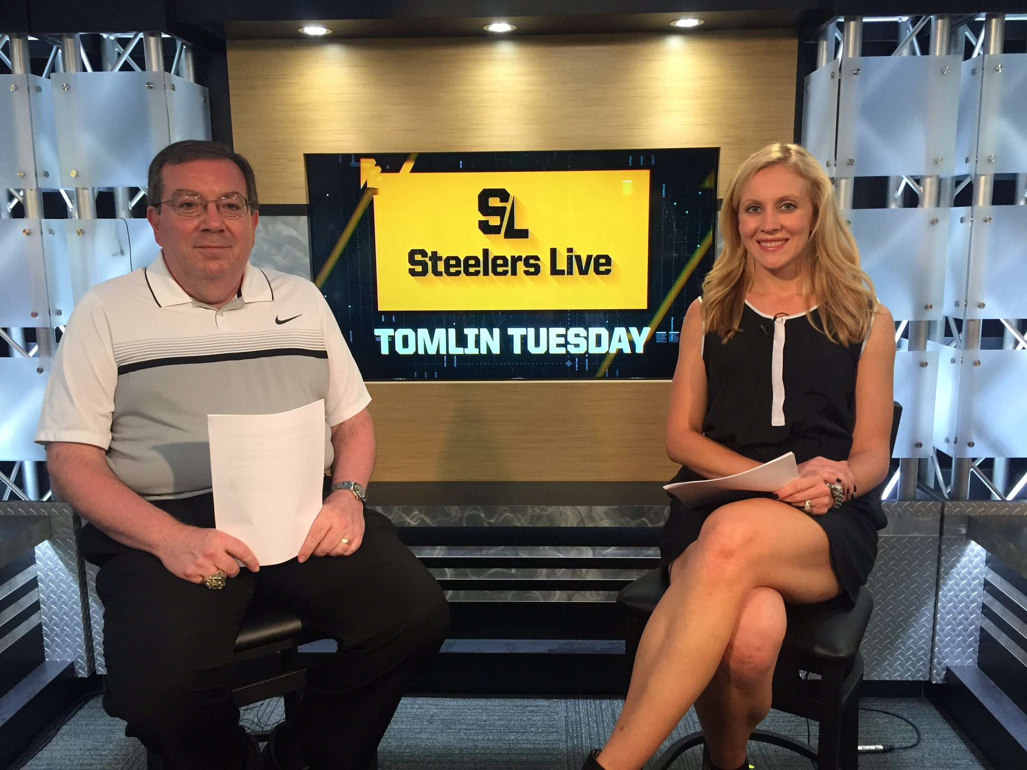 Join @BobLabriola and I for 'Tomlin Tuesday' at 4pm on #SteelersLive.   WATCH HERE: https://t.co/8aEYxrfyKf https://t.co/2i3s9B63Ue