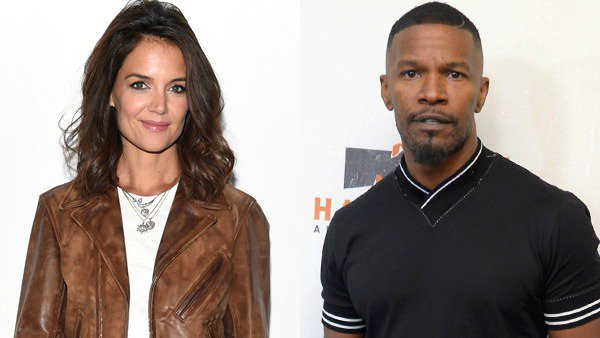 (Katie) Holmes is where Jamie Foxx's heart is and the two hit NYFW in style.