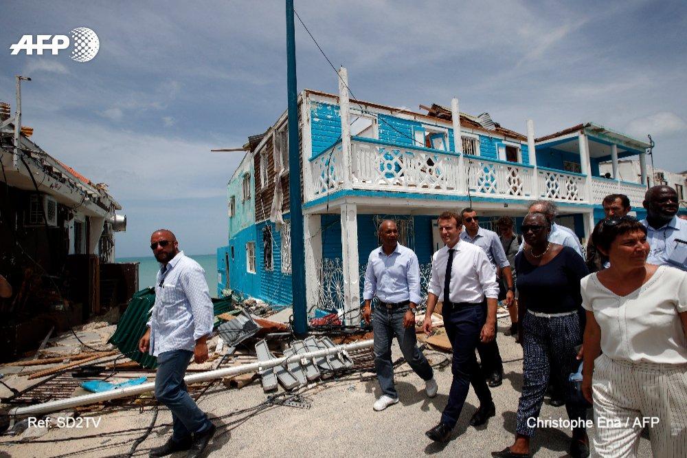 Irma: après Saint-Martin dévasté, Macron au chevet de Saint-Barthélemy