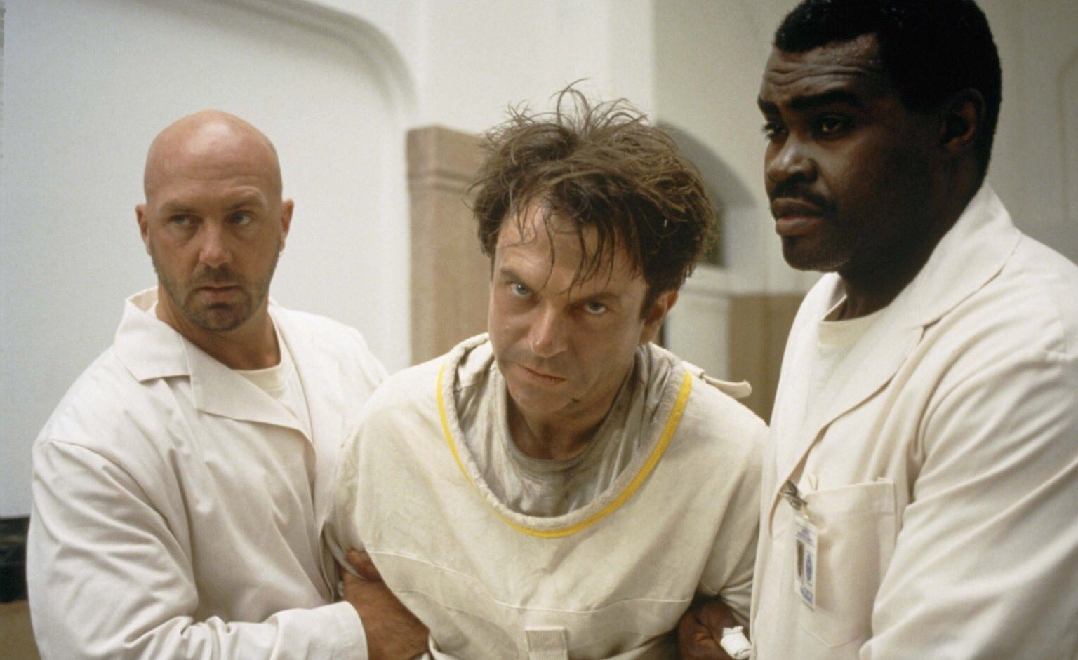 Wishing actor Sam Neill a happy 70th birthday! Shot from John Carpenter\s 1994 film, In the Mouth of Madness.