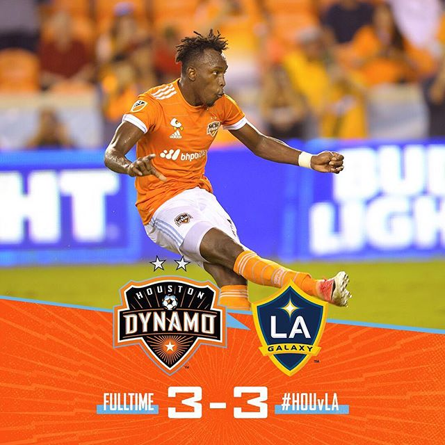 This game was so exciting to watch last night #HOUvLA 📷: @houstondynamo https://t.co/oQn4sevUzc