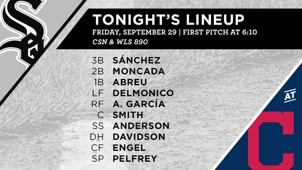 Tonight's #SoxGameDay starters: https://t.co/mdSOLcAJrD
