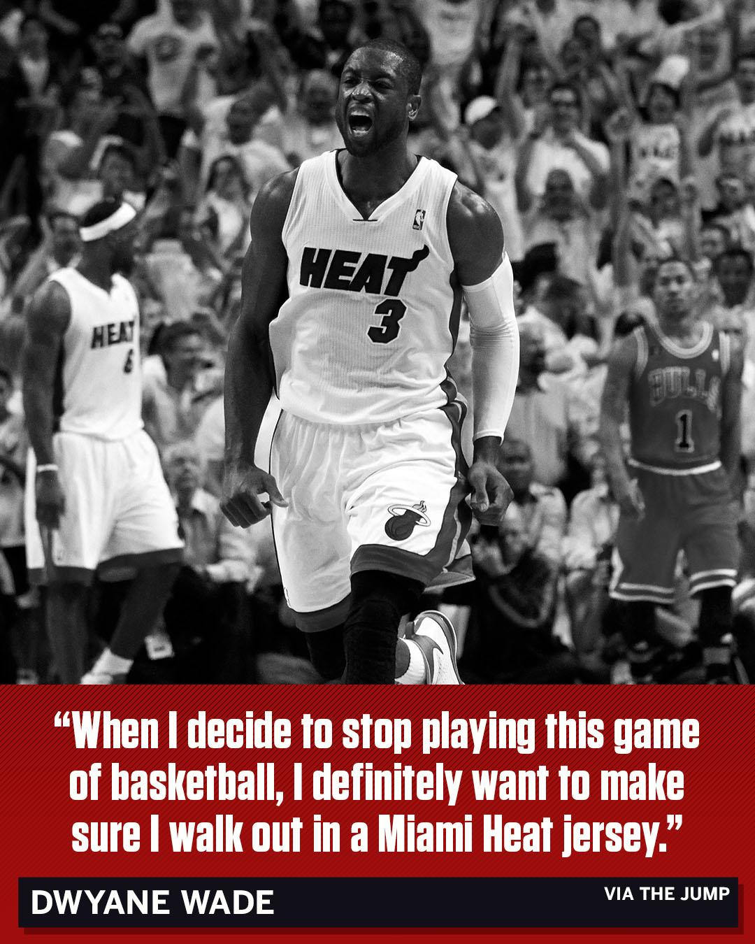 D-Wade wants to go out in the same jersey he started in. https://t.co/1DPHYSKcwx