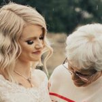Widow moved to tears when granddaughter surprises her wearing her 55-year-old wedding dress