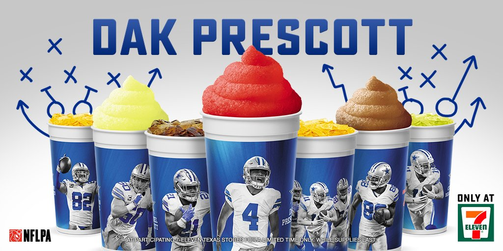 QB1 @Dak's exclusive cups are available now only @7eleven!  In participating TX stores for a limited time. https://t.co/Bs3W0aIanV