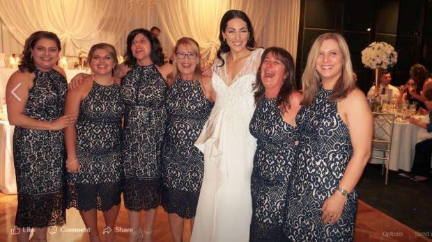 Dress code clones as six women wear same wedding outfit