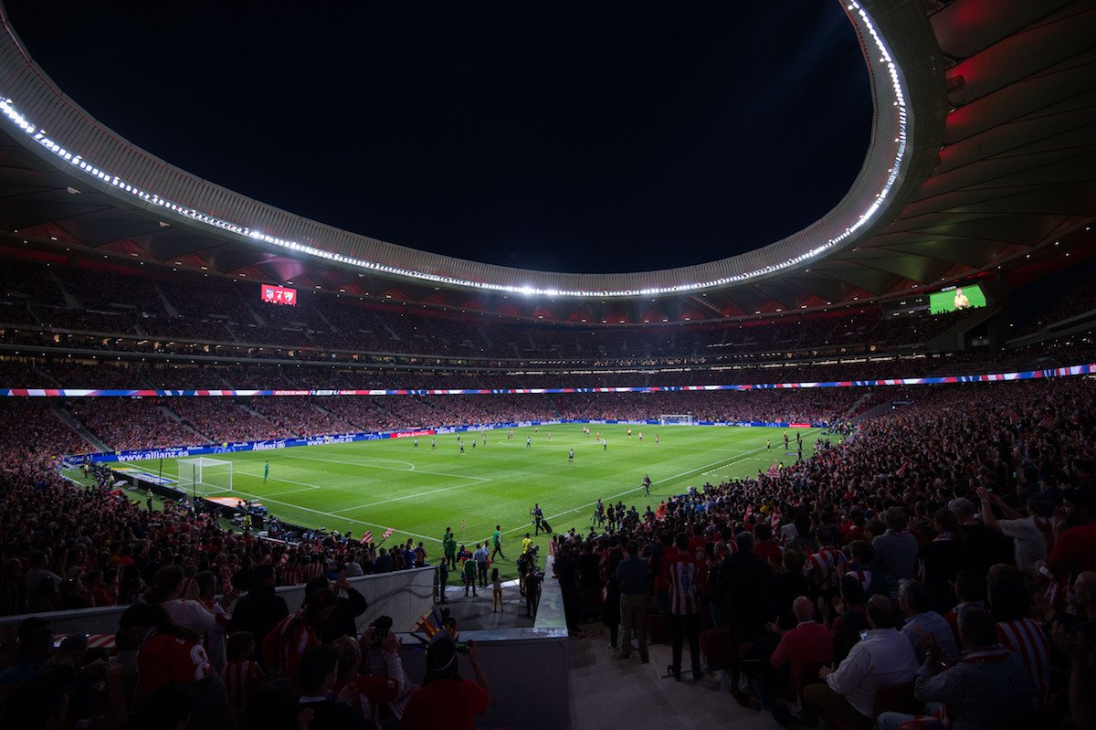 Atletico Madrid's new stadium, Wanda Metropolitano, will host the 2019...
