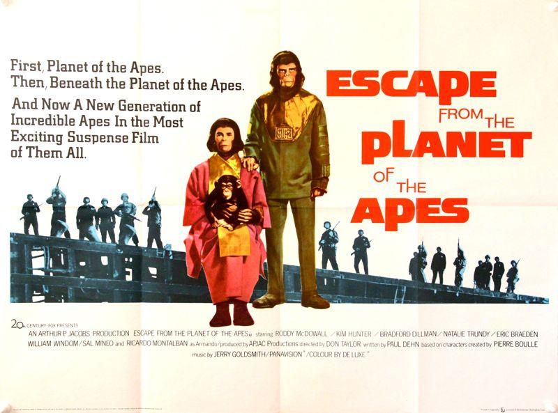 『猿の惑星・聖戦記』の公開記念なのか、単なる偶然か。サンテレビでは今夜『新猿の惑星』放送。ゴールデンタイムに『新猿』!