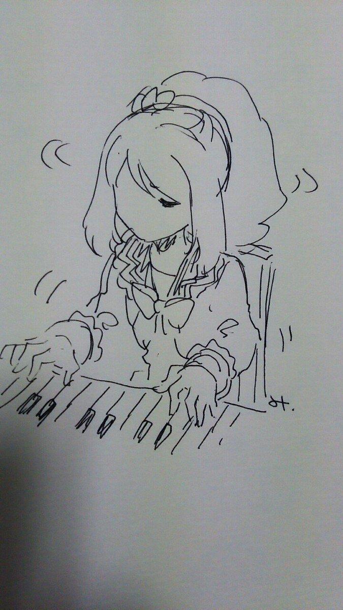 まだあわてるような時間じゃないので、とりあえずピアノを弾く桜庭ローラさん #aikatsu