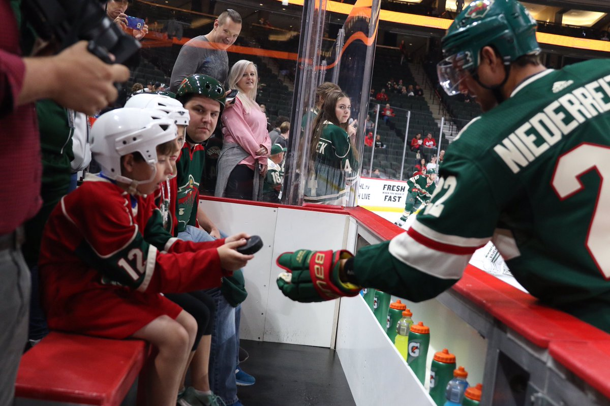 The face you make when gives you a puck 😱 #mnwild #StateOf...