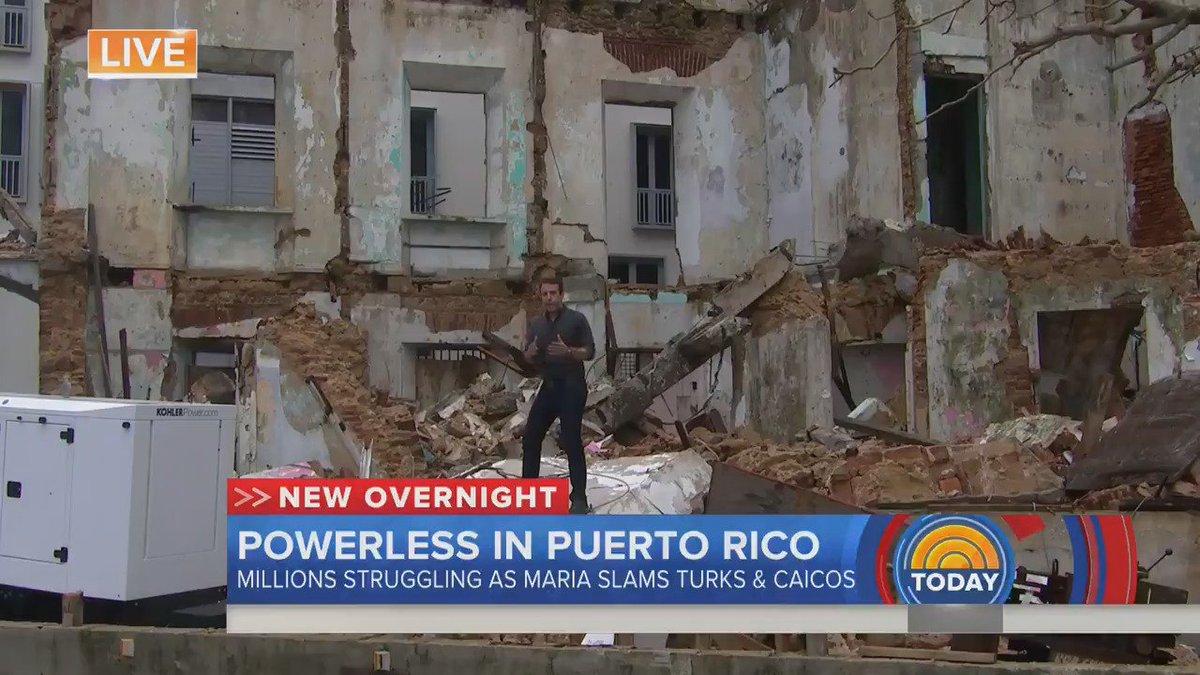 "WATCH ""Puerto Rico's infrastructure is decimated."" @gabegutierrez reports from San Juan after #HurricaneMaria"
