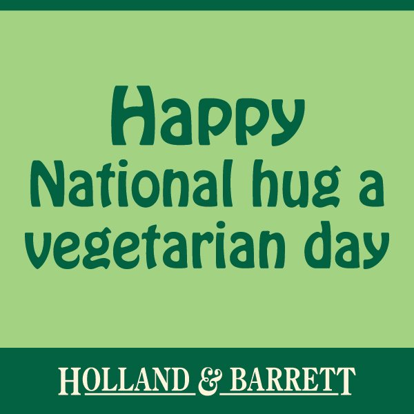 Going to be honest, there are A LOT of hugs going around our office today... #HugAVegetarianDay https://t.co/Xz7B6rOqB8