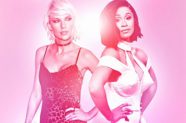 Taylor Swift vs. Cardi B Who'll be No. 1 on next week's Billboard #Hot100?