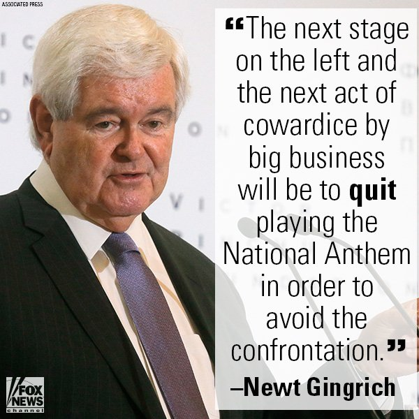 On @ffweekend, @NewtGingrich talked about how the National Anthem debate is a symptom of a larger leftist agenda. https://t.co/XkmPFXdLvh