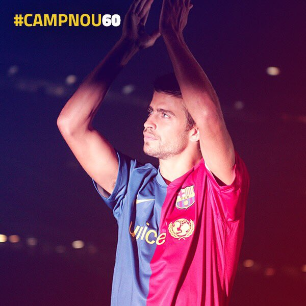 RT @3gerardpique: 🎂 Happy Birthday, #CampNou60! Let's have many more magical moments like my first Gamper. https://t.co/WZjhLqsaj7