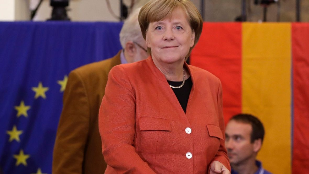 Merkel goes for 4th term as voting has begun to determine Germany's 'democratic future'