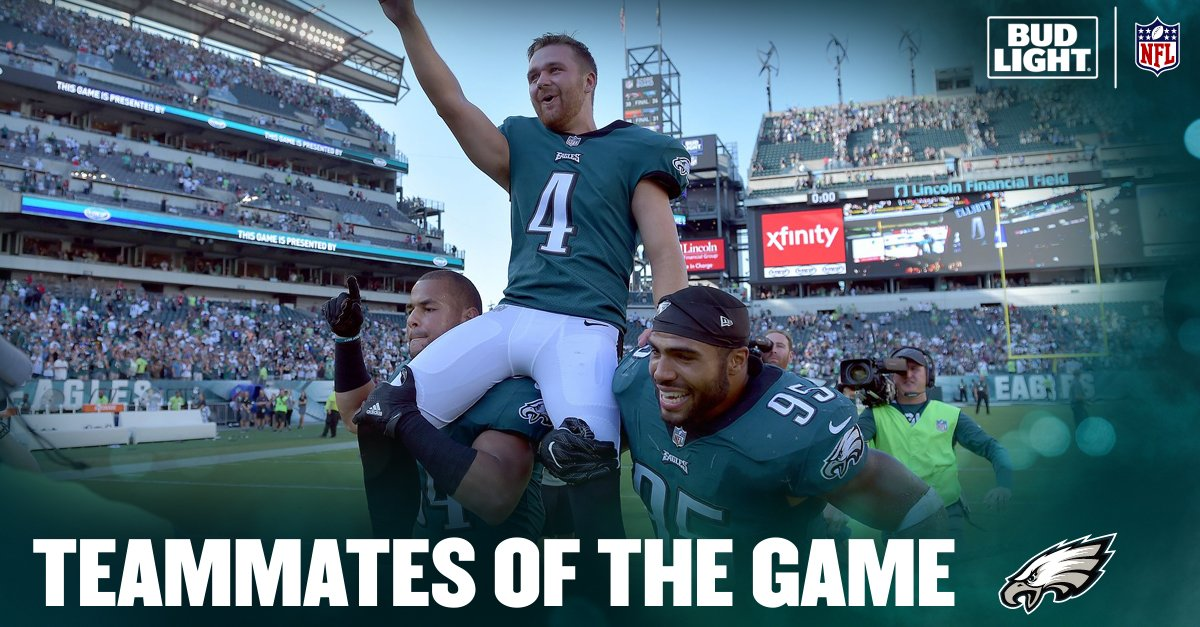 Today's @budlight Teammates of the Game. #FlyEaglesFly https://t.co/s3iLeNP7m5