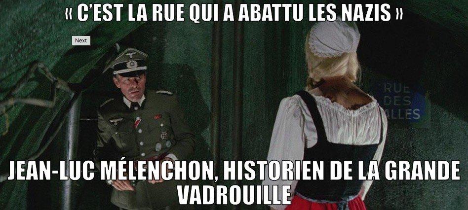 #LaRueABattu #Melenchon historien spécialiste de la grande vadrouille https://t.co/SWFCalLy1x