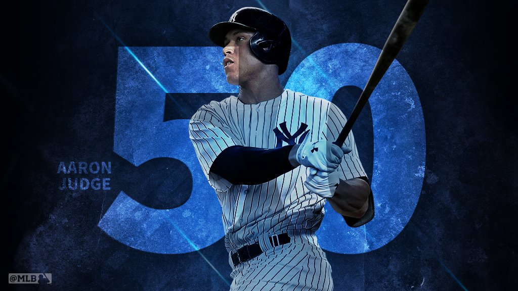 No. 50 – and @TheJudge44 stands alone.     That's the most home runs EVER for a rookie. https://t.co/DQhsmHHlyE