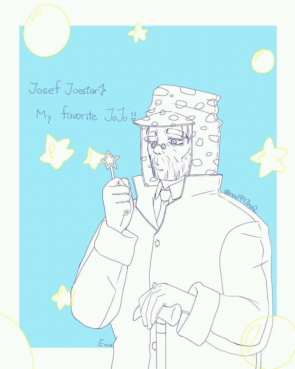 #JOJO版深夜の真剣お絵描き60分一本勝負#jojo「ジョセフ・ジョースター」Josef Joestar , my f